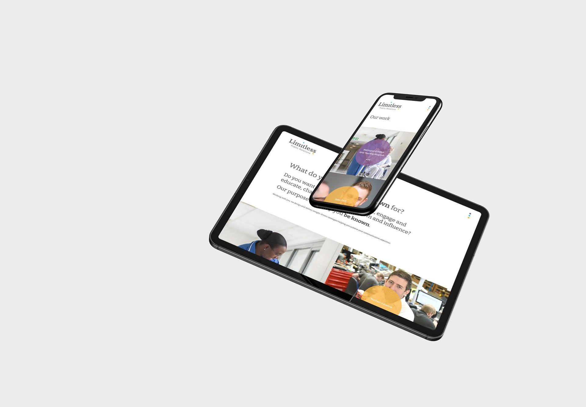 Limitless Public Relations Responsive Website Design and Development