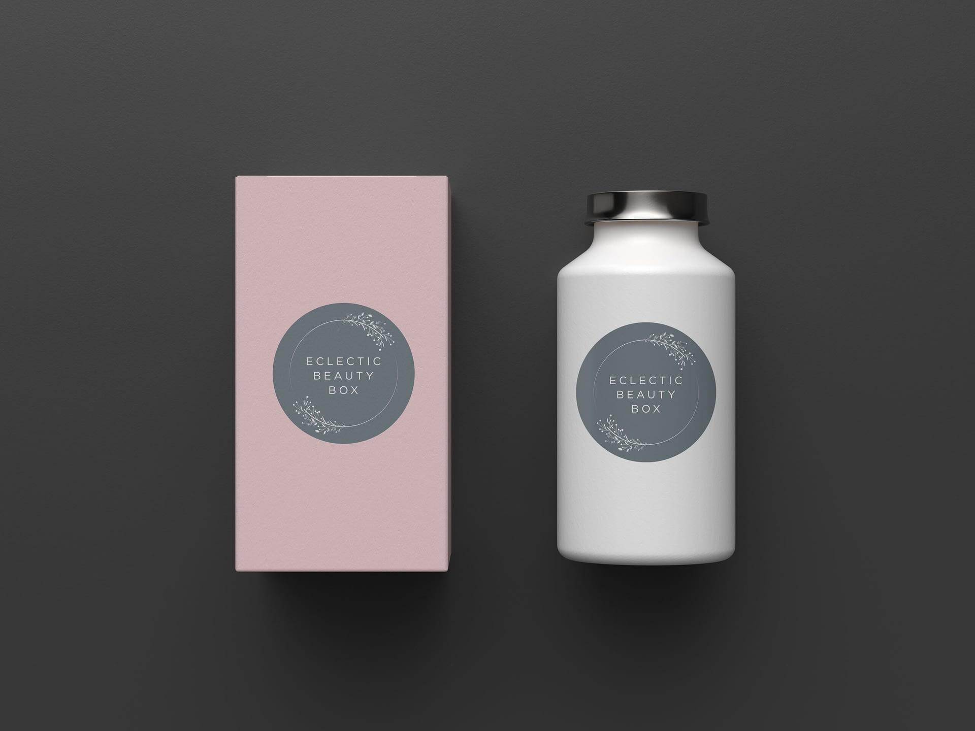 Eclectic Beauty Box Branding Logo Design Identity