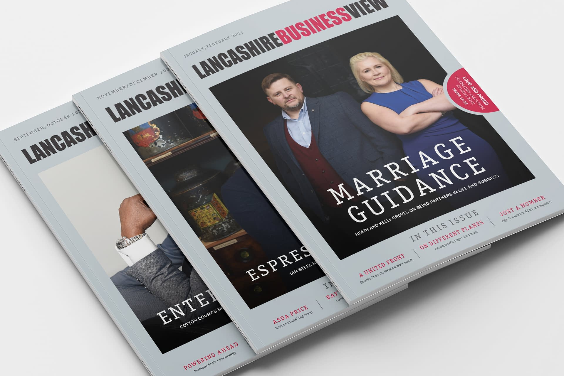 Lancashire Business View Magazine Covers